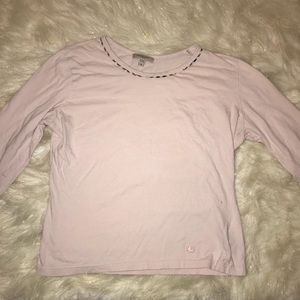 Burberry Pink Cotton Half Sleeve Shirt